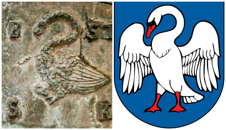 A. Kulviečio ir Jonavos herbų gulbės